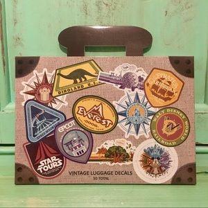 Disney Parks WDW Vintage Luggage Decals